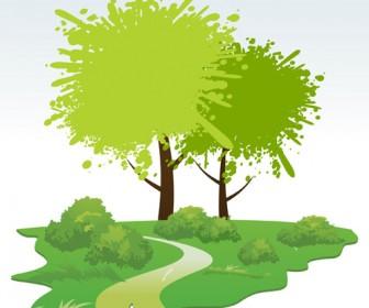 Illustration Green Landscape