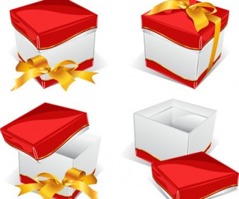 Free vector Gift box with bow
