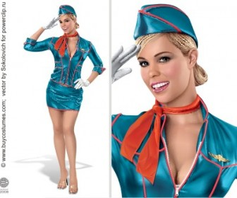 Pin up Stewardess