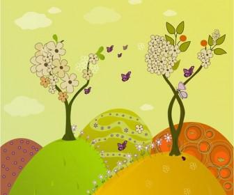 Spring flower vector artwork