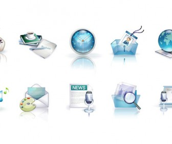 Business Icon Set Vector Graphics