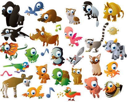 Cartoon Animal Vector Pack - Ai, Svg, Eps Vector Free Download