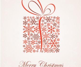 Christmas Snowflakes Present Box Vector