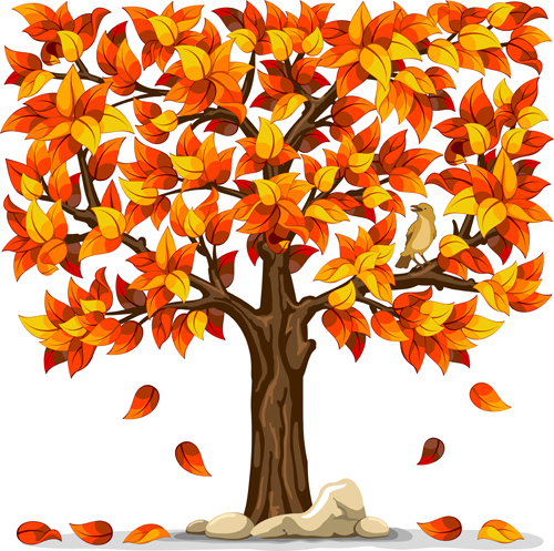 Sports Tree Cli  Cartoon Fall Tree With Branches