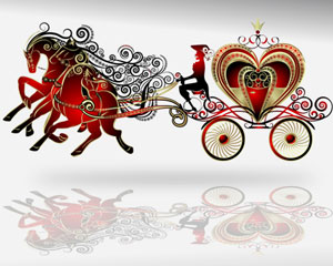 Horse Carriage Illustration Vector