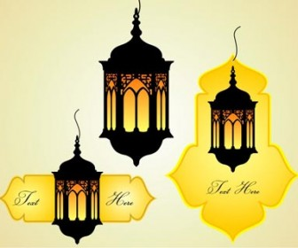 Islamic celebration dangler vector