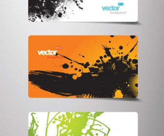Orange Business Card Vector