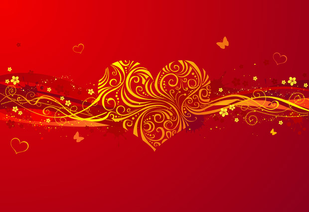 Vector Abstract Valentines Day Background