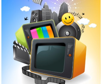 Entertainment media vector