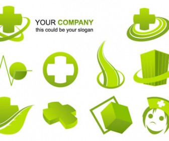 Free vector medical logo elements