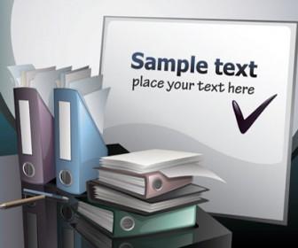 Office desks vector illustration
