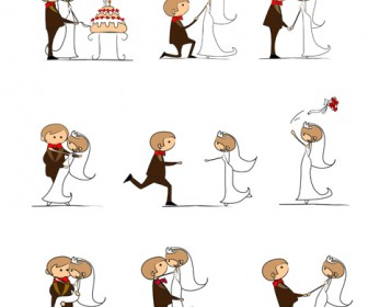 Wedding Cartoon Vector Illustration