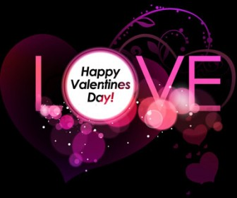Valentine Day Background with Love Text