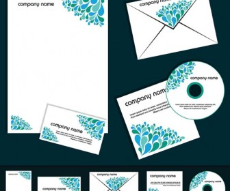 Blue Corporate Business Template Vector