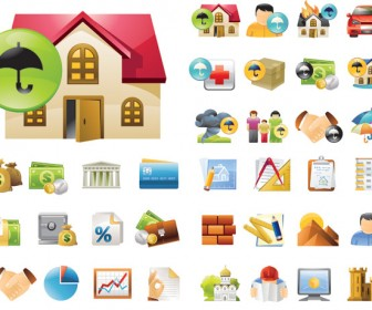Real Estate Icon Vector Pack
