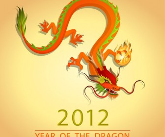 Year of The Dragon Vector Artwork