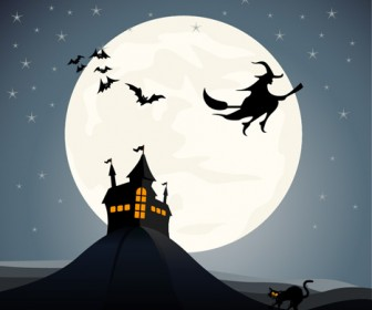 Haunted House Vector