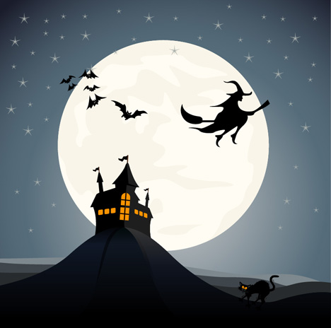 Haunted House Vector - Ai, Svg, Eps Vector Free Download