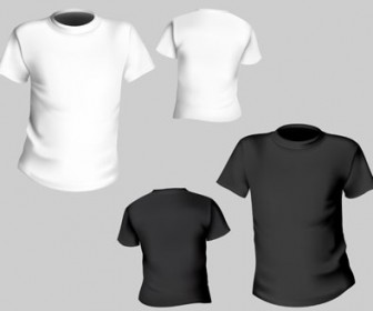 Vector t-shirt black white