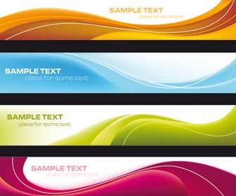 Colored Swirl Cards Vector Design