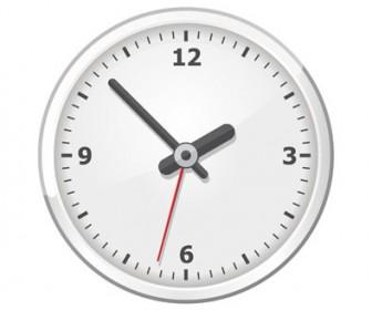 Office Clock Vector Illustration