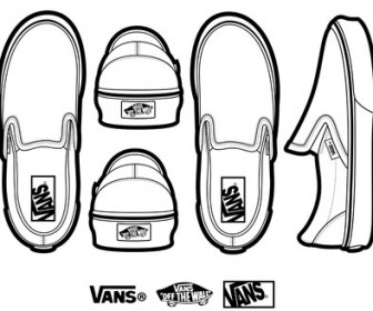 Classic Slip Shoes Ai Svg Eps Vector Free Download