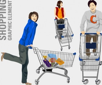 Vector People Shopping Illustration Pack