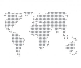 World Map Dotted Pattern