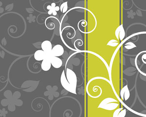 Flower Template Card Background
