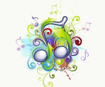 Musical Backgrounds Abstract Vector