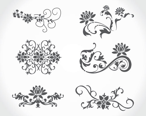 Vector Floral Vintage Ai Svg Eps Vector Free Download