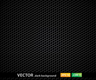 Metal Pentagon Pattern Dark Background