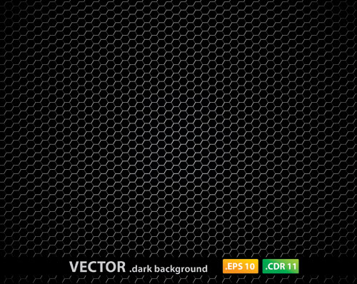 Metal Pentagon Pattern Dark Background Ai Svg Eps