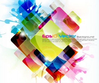 Colorful Rectangle Background Vector