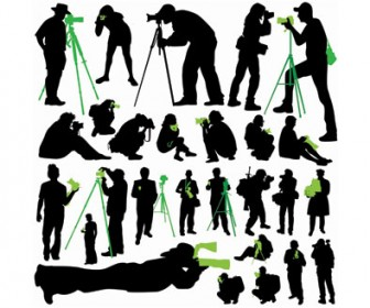Free Vector Silhouette Photographer
