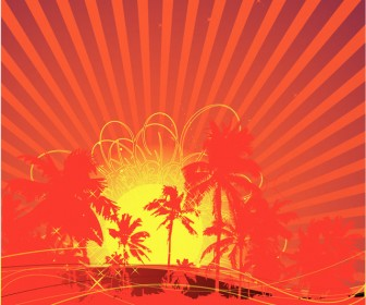 Tropical Sun Vector