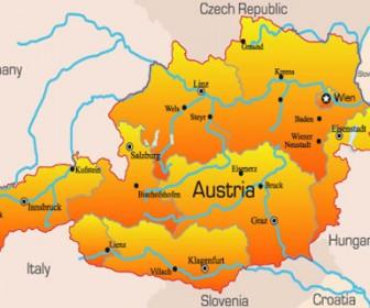 World Maps Austria Illustration