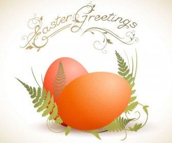 Eggs Illustration Greeting Card