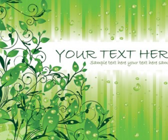 Green Leaves Decoration Cover Vector