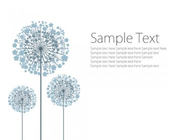 Vector dandelion template