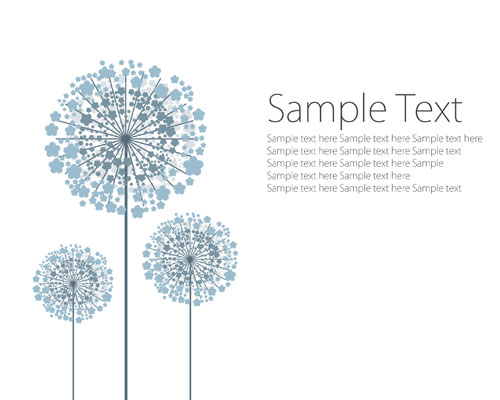 vector dandelion template ai svg eps vector free download