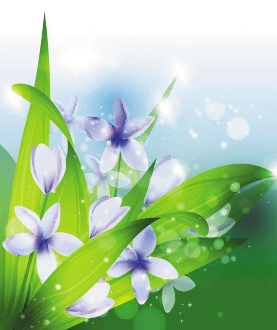 green flower vector background  ai, svg, eps vector free download, Beautiful flower