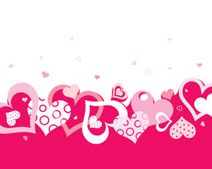 Vector valentine background heart pattern
