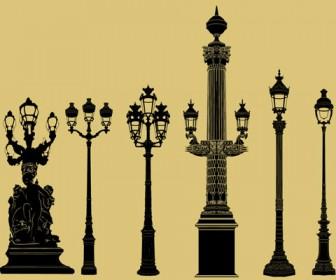 Vector lamppost street