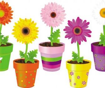 Vase colorful flowerpot