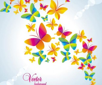 Butterflies vector art background