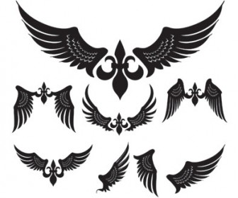 Silhouette Wings Vector Pack