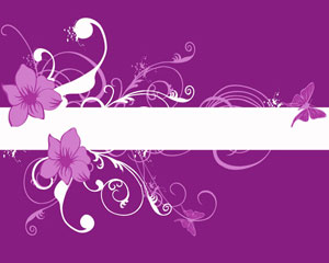Abstraction Violet Floral Background