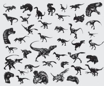 Dinosaurs Vector Illustration Pack