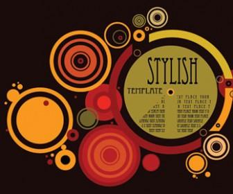 Circles Illustration Style Background